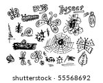 hand drawn set of insect | Shutterstock .eps vector #55568692