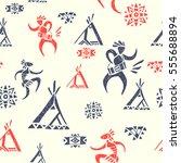 tribal ornamental texture.... | Shutterstock .eps vector #555688894