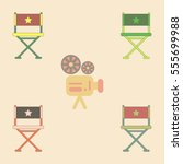 cinema producer seat vector...   Shutterstock .eps vector #555699988