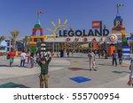 dubai legoland at dubai parks... | Shutterstock . vector #555700954