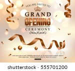 shiny grand opening celebration ... | Shutterstock .eps vector #555701200
