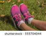 young  woman's legs with... | Shutterstock . vector #555704044