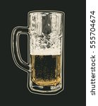 mug of beer. hand drawn design... | Shutterstock .eps vector #555704674