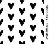 abstract heart pattern with... | Shutterstock . vector #555708088