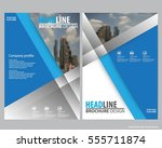 abstract vector modern flyers...   Shutterstock .eps vector #555711874
