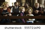 church people believe faith... | Shutterstock . vector #555721690