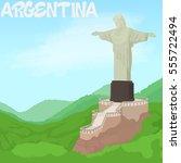 argentina concept. cartoon... | Shutterstock . vector #555722494