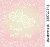 love concept for wedding design ... | Shutterstock . vector #555727948