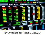 stock market data on led... | Shutterstock . vector #555728620