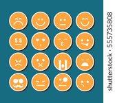 emoticon design elements... | Shutterstock .eps vector #555735808
