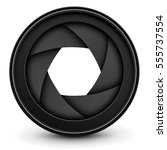 camera lens shutter background  ... | Shutterstock .eps vector #555737554