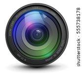 camera photo lens  vector... | Shutterstock .eps vector #555738178
