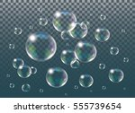 realistic vector isolated soap... | Shutterstock .eps vector #555739654
