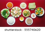 amazing of vietnamese food for... | Shutterstock . vector #555740620