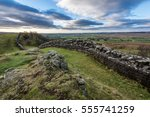 hadrian's wall on the outskirts ... | Shutterstock . vector #555741259