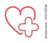vector illustration of health... | Shutterstock .eps vector #555745018