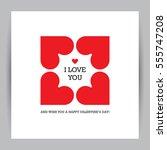 creative valentine's day... | Shutterstock .eps vector #555747208