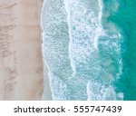 sea aerial view top view... | Shutterstock . vector #555747439