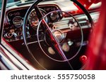 classic red vintage car | Shutterstock . vector #555750058