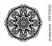 round ornament. ethnic mandala. ... | Shutterstock .eps vector #555753010