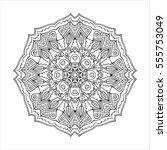 round ornament. ethnic mandala. ... | Shutterstock .eps vector #555753049