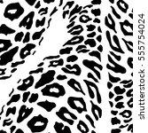tiger skin pattern vector ... | Shutterstock .eps vector #555754024