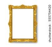 vintage gold picture frame | Shutterstock .eps vector #555754420