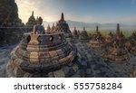 Sunrise Background At Borobudu...