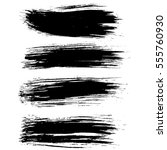 black ink vector brush strokes... | Shutterstock .eps vector #555760930