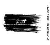 black ink vector brush strokes... | Shutterstock .eps vector #555760954