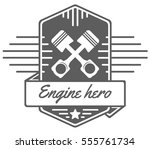 vector logo of car customizing... | Shutterstock .eps vector #555761734