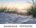 sunset at the baltic sea | Shutterstock . vector #555762334