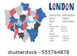 london united kingdom picture... | Shutterstock .eps vector #555764878