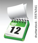 calendar. all elements and... | Shutterstock .eps vector #55576561
