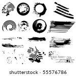 grunge design elements | Shutterstock .eps vector #55576786