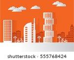 urban landscape background ...   Shutterstock .eps vector #555768424