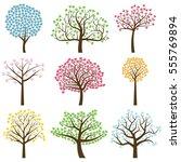 valentine's day tree... | Shutterstock .eps vector #555769894
