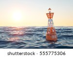 Buoy In The Open Sea On The...