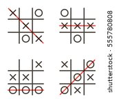 Set  Collection Of Tic Tac Toe...