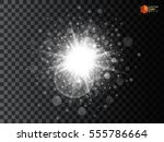 glow light effect. star burst... | Shutterstock .eps vector #555786664