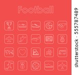 set of football simple icons | Shutterstock .eps vector #555787489