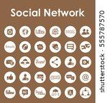 set of social network simple... | Shutterstock .eps vector #555787570
