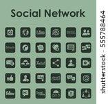 set of social network simple... | Shutterstock .eps vector #555788464