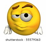 single 3d emoticon isolated on...   Shutterstock . vector #55579363