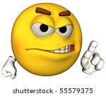 single 3d emoticon isolated on... | Shutterstock . vector #55579375