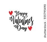 valentines day lettering... | Shutterstock .eps vector #555795490