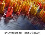 abstract colourful background.... | Shutterstock . vector #555795604