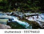 wild carpathian river | Shutterstock . vector #555796810
