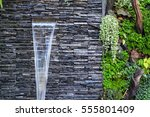 Wall Stones And Water Fall