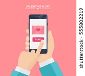 valentine's day illustration.... | Shutterstock .eps vector #555802219